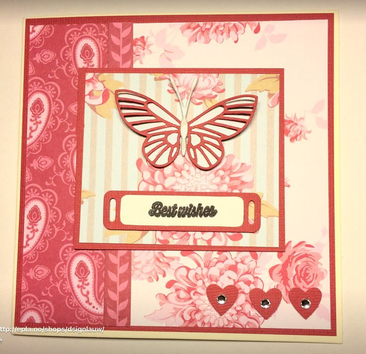 Handmade card. Butterfly. Best wishes
