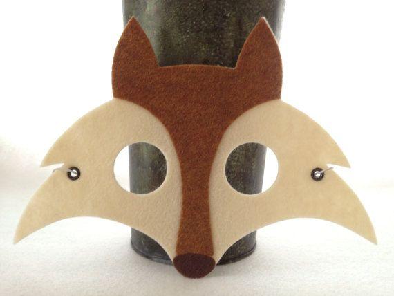 Sentí la máscara del zorro por iCROWNyou en Etsy, $12.00