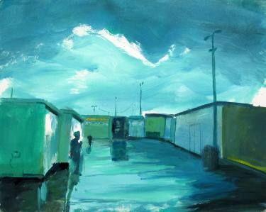 """Saatchi Art Artist Wojtek Herman; Painting, """"Time for a cigarette"""" #art"""