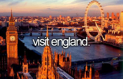 bucket list: visit england