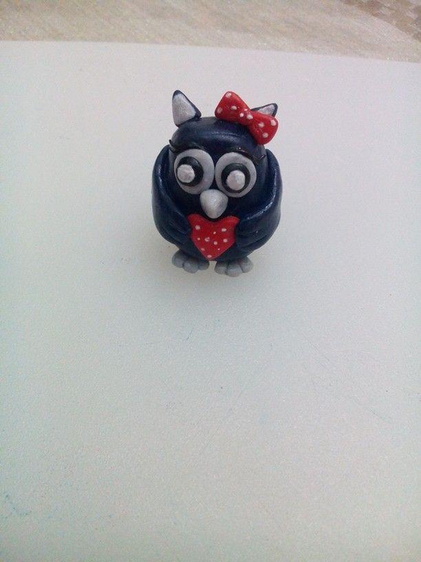 Fimo civetta....polymer clay owl