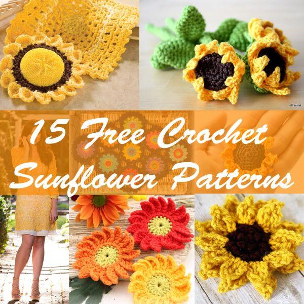 15 free crochet sunflower patterns-01