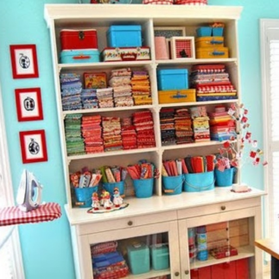 Amazing Card Making Storage Ideas Part - 4: Fabric Storage For Sewing Room. I Need To Organize My Fabric By Color.