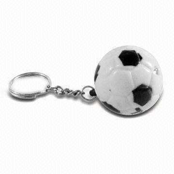 LED Key Chain with Football Shape, Available in Various Colors