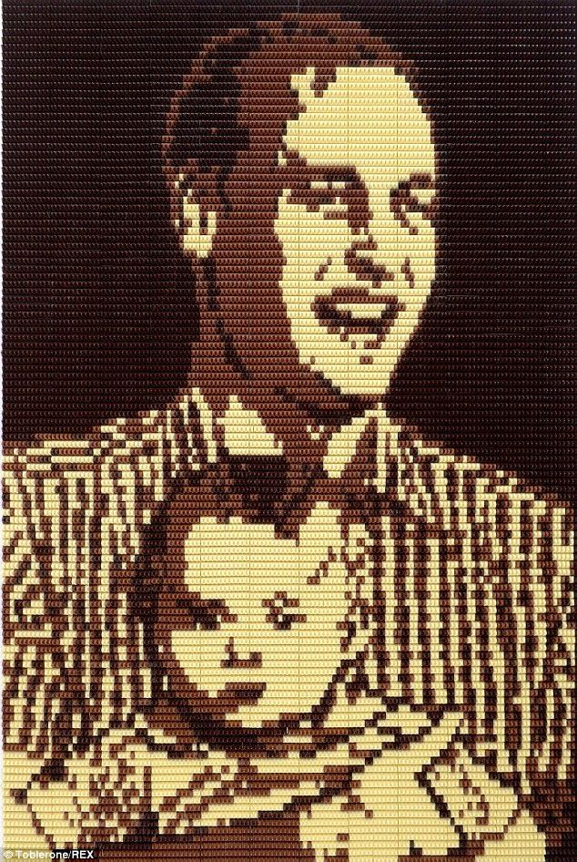 Simply Creative: Toblerone Chocolate Portrait by Michelle Wibowo - Prince William and baby George get special portrait made from 1,500 Toblerones to mark Father's Day
