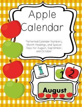 Apple Calendar Set for August, September, and October