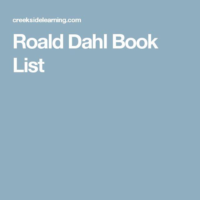 Roald Dahl Book List