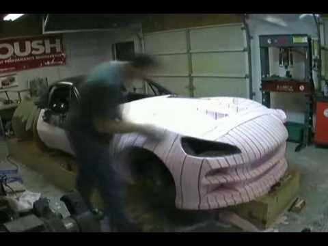 Bailey Blade Car Design   Sculpting Foam Core - Part 10 - YouTube