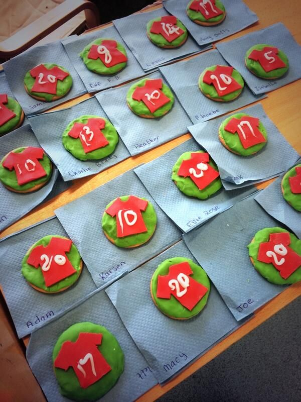 Football Shirt Biscuits