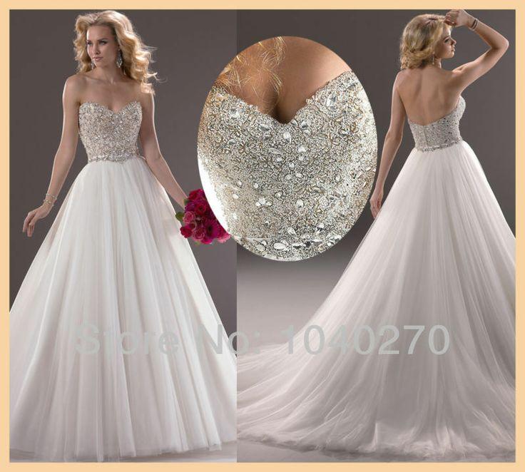 mousserende witte kristal organza vloer lengte trouwjurk luxe bruidsjurken w3745 2013 nieuwe mode
