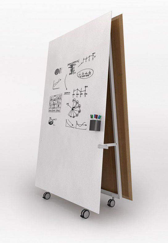 Floor-mounted desk partition / wooden / on casters / modular - HENGE - schiavello