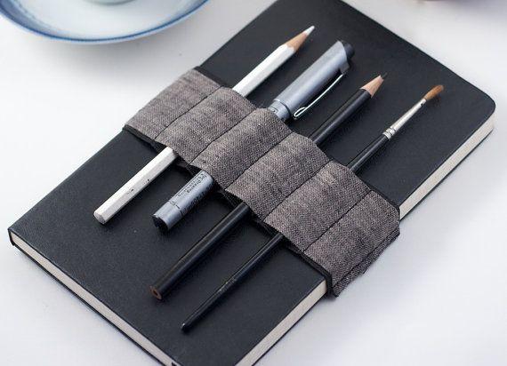 Journal Bandolier  // a better pencil case // Dark Linen