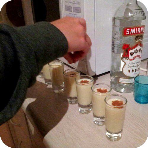 Milktart shots! Melktertjies - A Shot of Heaven