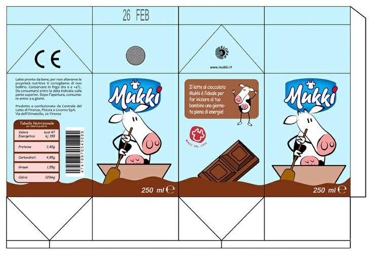 Progetto per il packaging di una bevanda a base di latte. Manuel Ghezzo, 2014