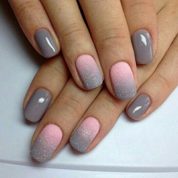 Uñas rosa con gris!!!