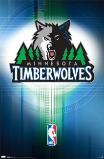 Minnesota Timberwolves Official NBA Team Logo Poster - Costacos Sports