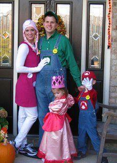 super mario costumes - Halloween Costumes Family Of 5