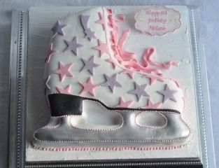 Ice Skate Birthday cake