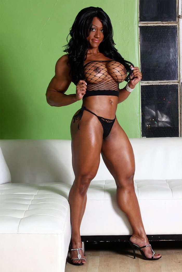 Sexy black muscle women-6418