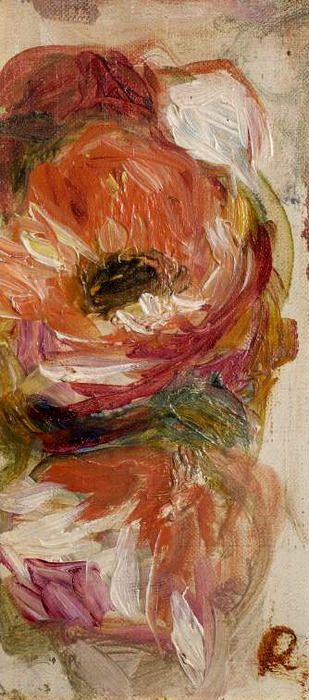 Study of Flowers, Pierre Auguste Renoir