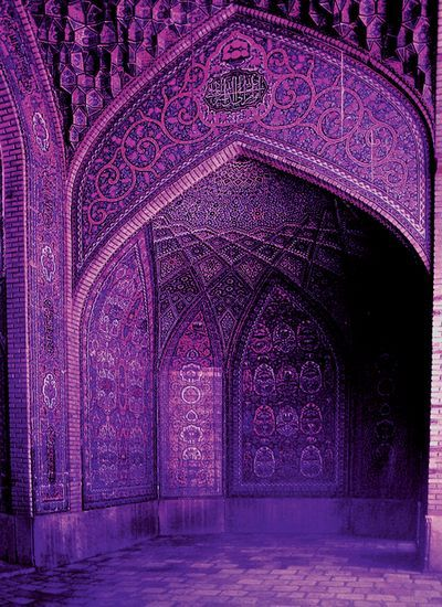 Purple mosque http://www.pinterest.com/kandeshack/islamic-architecture-art/
