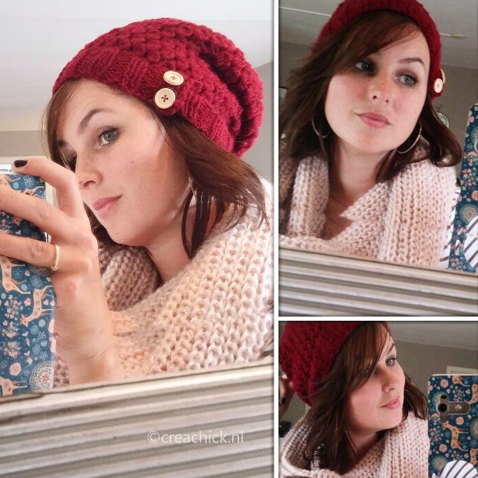 Knit and crochet your own hat for this winter. Free pattern. Haak en brei je eigen muts voor deze winter. Gratis patroon in het Nederlands.