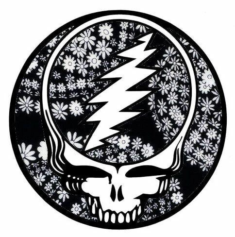 american hippie music art grateful dead mandala black white - Grateful Dead Coloring Book