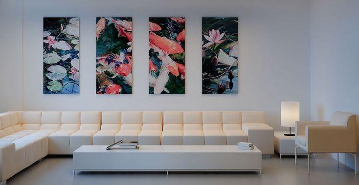 Flower Wall Art Hanging And Cream L Shaped Sofa Design Id618 - Art Of Hanging Wall Arts - Wall Designs - Art Design