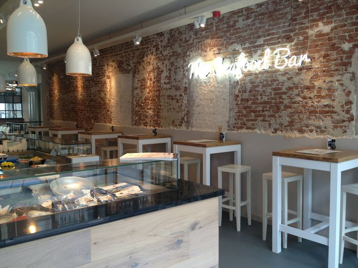 Fish concept the seafood bar amsterdam the netherlands for Interieur horeca