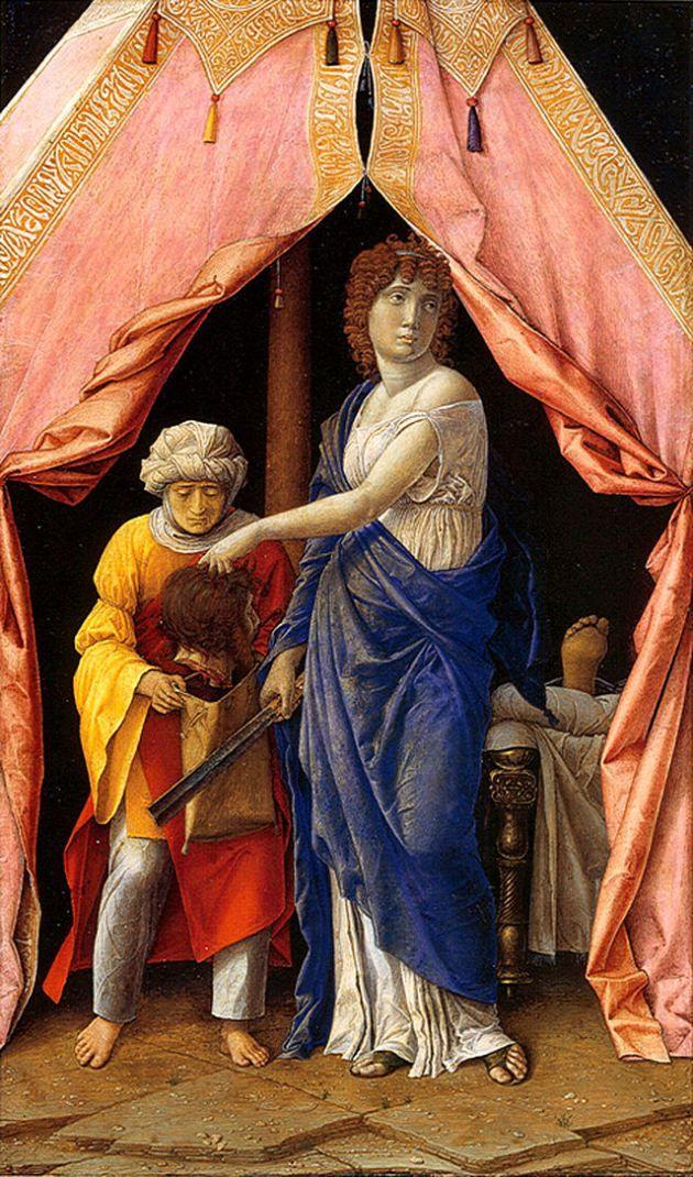 Andrea Mantegna, Giuditta e l'ancella con la testa di Oloferne, 1495