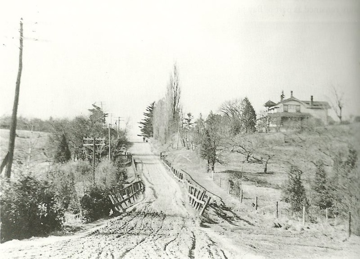 Bayview and Eglinton looking north 1910