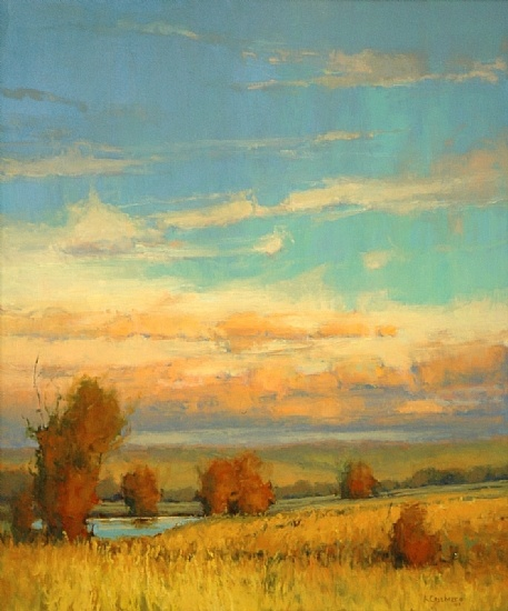 "Kim Casebeer ""Fall Oaks""  (It's really a sky-scape, more than a landscape.  Lovely...."