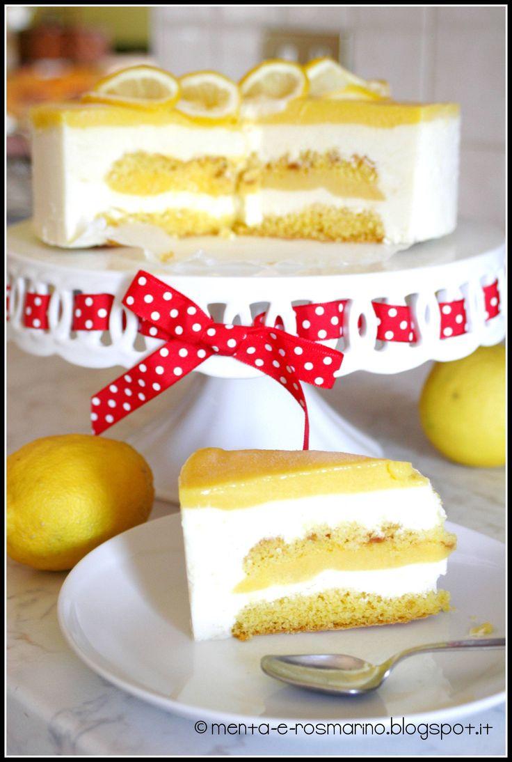 Menta e Rosmarino: Torta semifreddo al lemon curd