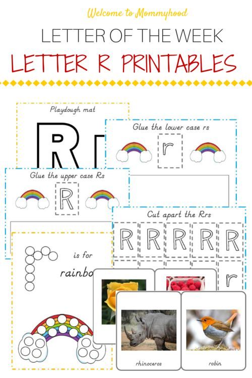 Free Letter R Printables Pack from Welcome to Mommyhood