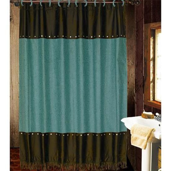 aqua and brown shower curtain. Teal  Brown Tooled Shower Curtain 23 best Curtains images on Pinterest Living room ideas Master