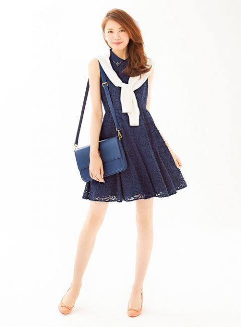 装飾レースが愛らしいアクセントに   ファッション コーディネート   with online on ウーマンエキサイト