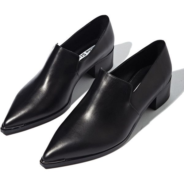 Acne Womens Jaycee Lamb Leather Loafer Shoes (3,540 MXN) ❤ liked on Polyvore featuring shoes, flats, flat shoes, flat heel shoes, loafer shoes, flat pumps and loafers flats