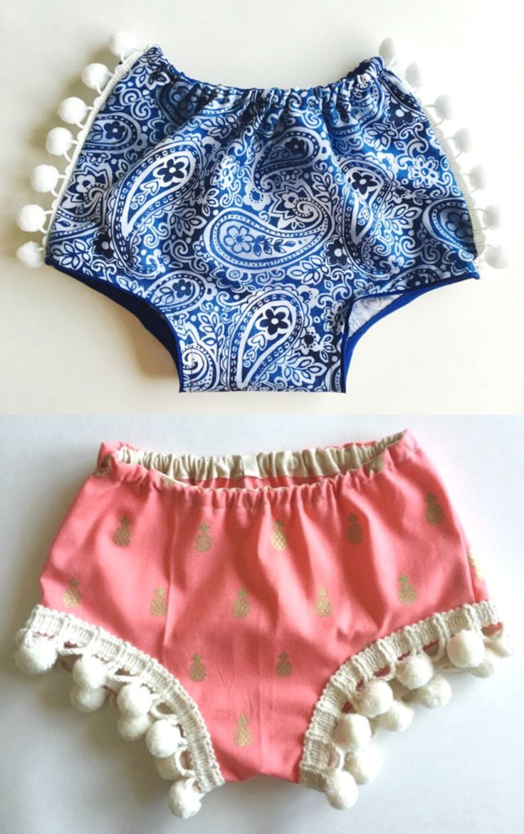 Pom Pom Shorties by Rose & Wolfe Co on Etsy