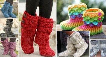 10 Models slippers, 10 free patterns!