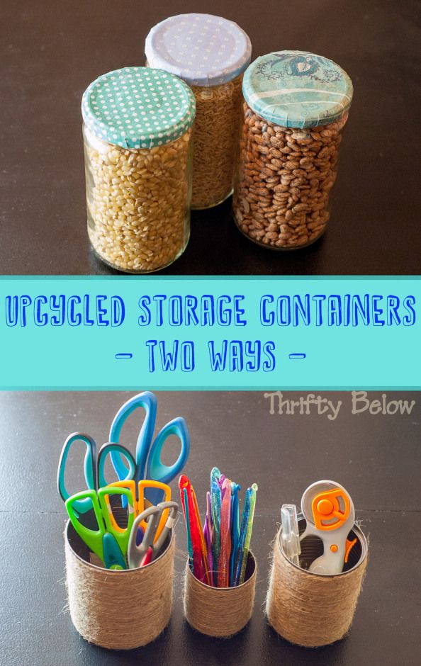 Upcycled Storage Containers   Thrifty Below