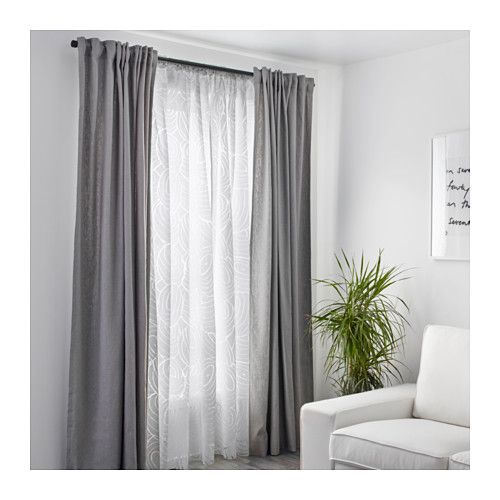 NORDIS Sheer curtains, 1 pair  - IKEA  Bedroom divider curtains