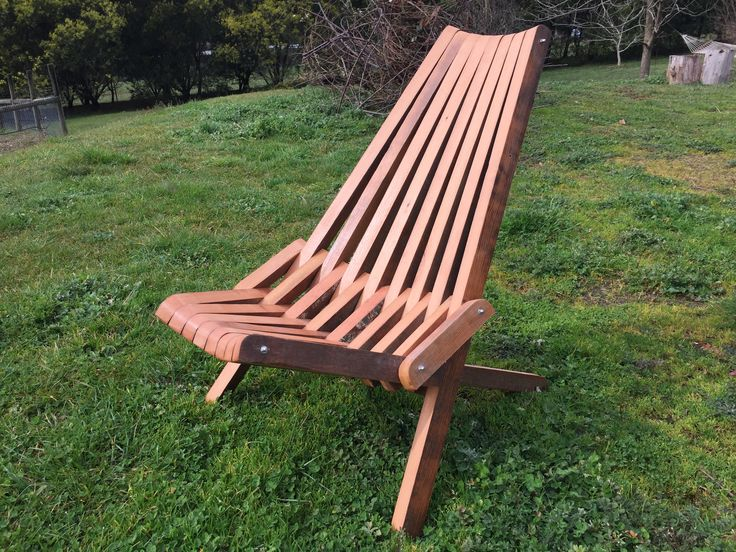 Stick Chair from recycled Douglas Fir from a carport damaged by a fallen tree