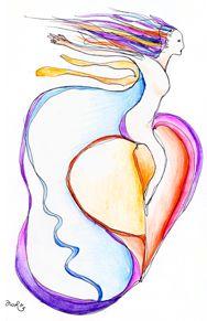 Channeled Drawing- Freedom Flow- Artist: Antonia Wibke Heidelmann