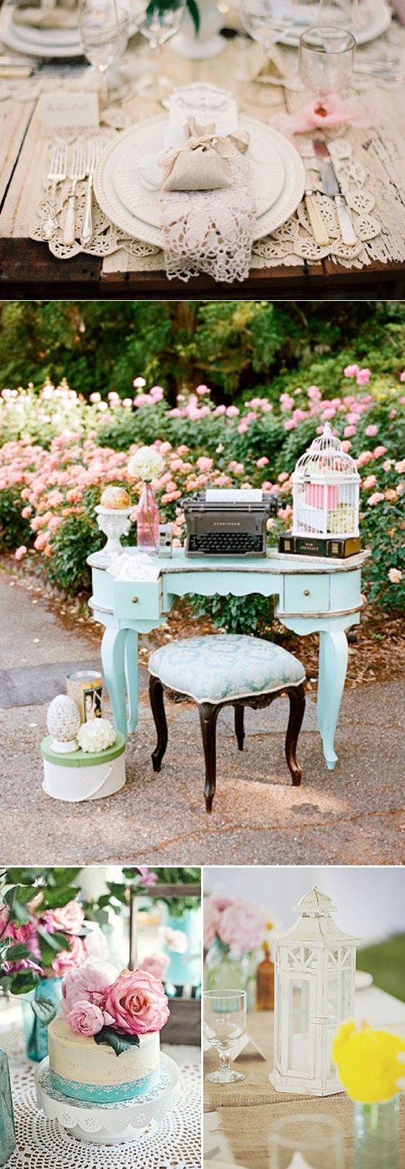 Bodas vintage y románticas: Inspiración