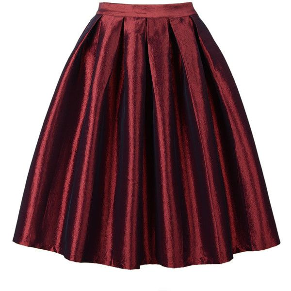 Choies Wine Red High Waist Skater Skirt ($20) ❤ liked on Polyvore featuring skirts, bottoms, red, red skirt, circle skirt, red flared skirt, high-waisted skirts and red skater skirt