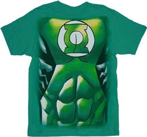 Green Lantern Muscle Costume Print T-shirt