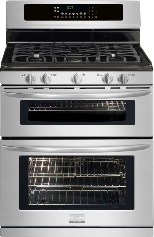 """Frigidaire FGGF304DL 30"""" Freestanding Gas Double Oven Range with True Convection Stainless Steel Ranges Free Standing Gas"""