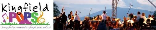 The Kingfield POPS with the Bangor Symphony Orchestra is a spectcular event held on the last Saturday in June.  The stage is set in a wild flower pasture at the Kennedy Farm and the audience picnics on blankets and beach chairs.  Fireworks close the event, which runs from 4 to 10 p.m.