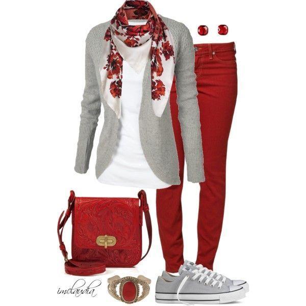 Rot, Weiß und Grau