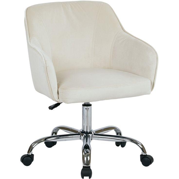 Avesix bristol plush fabric task chair oyster velvet